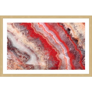 Marmont Hill 'Red Rhodochrosite' Framed Painting Print