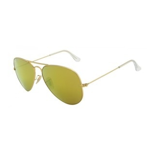 Ray-Ban Aviator RB3025 Unisex Gold Frame Yellow Flash Lens Sunglasses