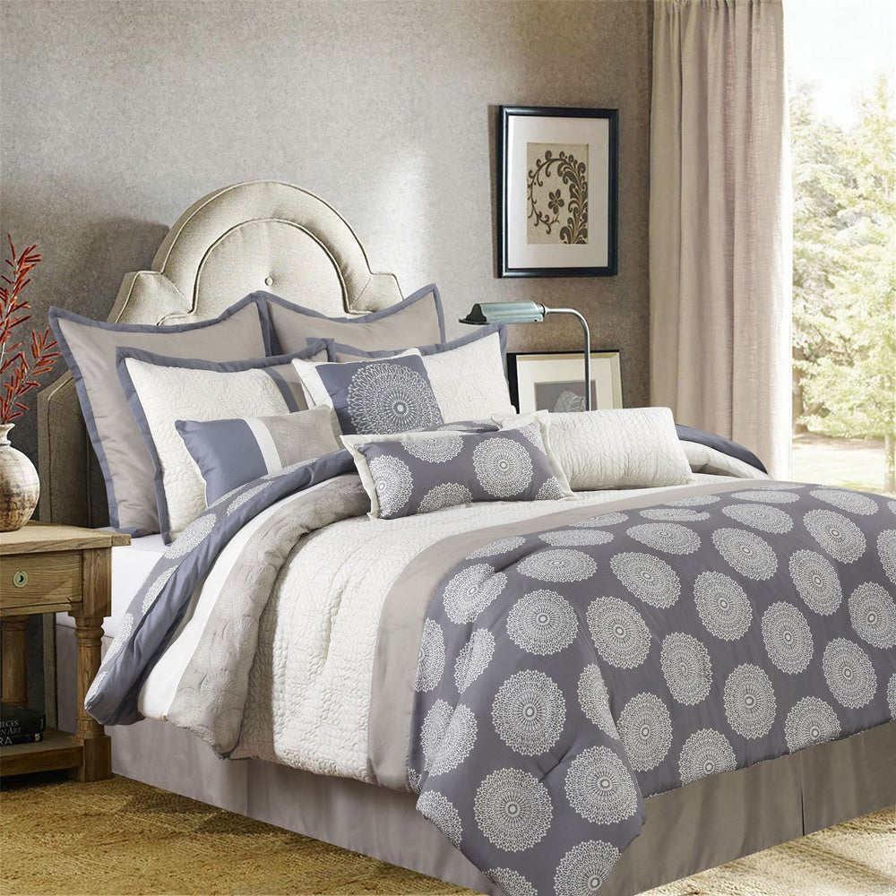 Grand Avenue Naomi 10-piece Comforter Set with Accent Pillows