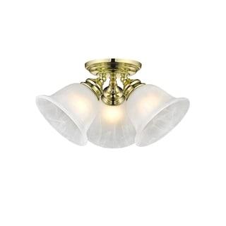 Livex Lighting Essex Polished Brass 3-light Ceiling Mount