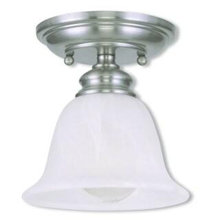 Livex Lighting Essex Brushed Nickel 1-light Ceiling Mount