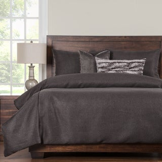 Silk Route Shiitake 6 Piece Woven Luxury Duvet Set with Duvet Insert