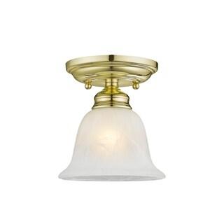 Livex Lighting Essex 1-light Polished Brass Ceiling Mount Fixture
