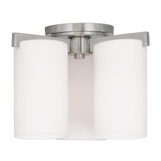 Livex Lighting Astoria 3-light Brushed Nickel Ceiling Mount Fixture