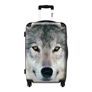 iKase Grey 20-inch Wolf Hardside Carry-on Upright Suitcase