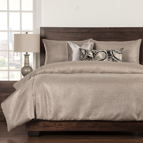 Silk Route Lotus 6 Piece Woven Luxury Duvet and Comforter Insert Set