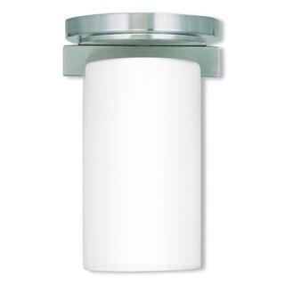Livex Lighting Astoria Brushed Nickel 1-light Ceiling Mount Fixture