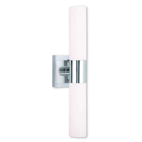 Livex Lighting Aero 2-light Polished Chrome Steel Bath Light