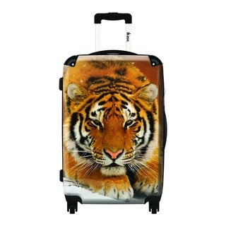 iKase Tiger 20-inch Fashion Hardside Carry-on Upright Suitcase