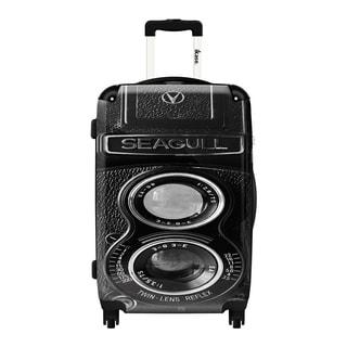 iKase Vintage Camera Polycarbonate 20-inch Fashion Upright Hardside Carry-on Suitcase