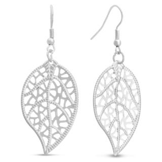 Antique Style Silver Leaf Earrings