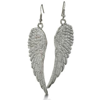 Vintage Inspired Silver Tone Angel Wing Earrings|https://ak1.ostkcdn.com/images/products/12090632/P18954924.jpg?impolicy=medium