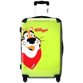 iKase Tony Yellow 20-inch Hardside Carry-on Spinner Upright Suitcase