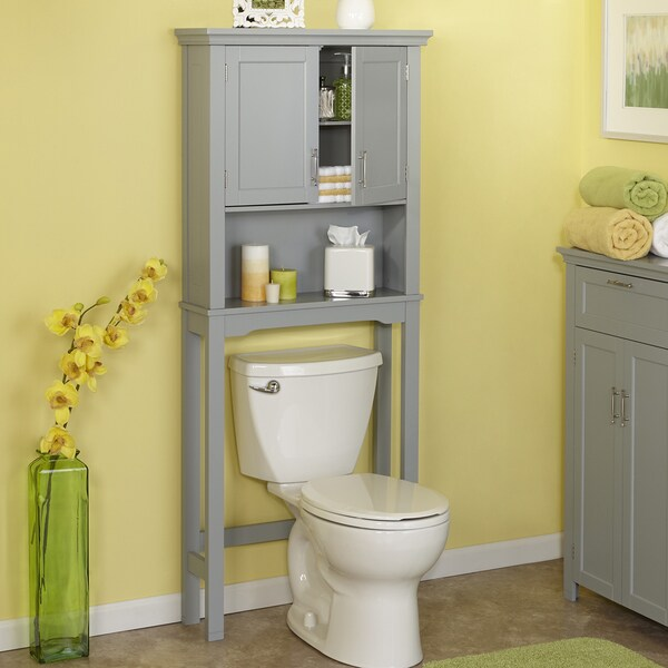 RiverRidge Home Products Somerset Collection Grey Spacesaver Cabinet