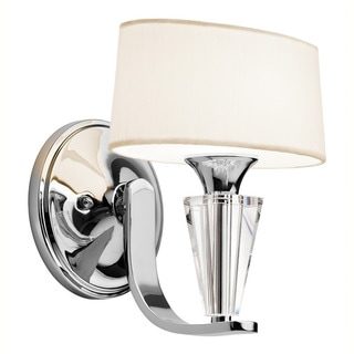 Kichler Crystal Persuasion Collection 1-light Chrome Wall Sconce