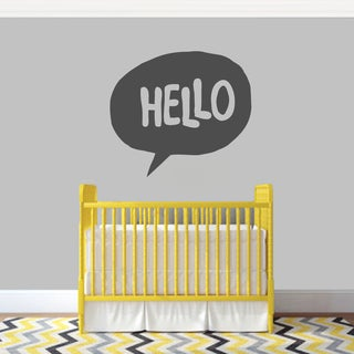 Hello Word Bubble' 36 x 32-inch Wall Decal