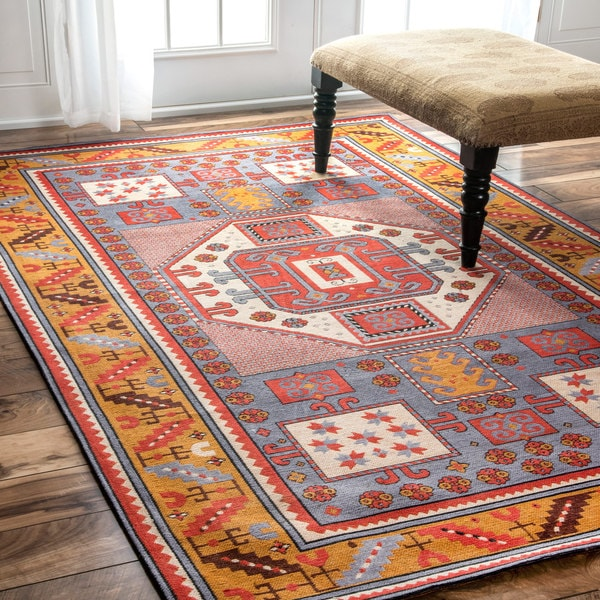 Nuloom Tribal Border Rust Rug 5 X 8 Free Shipping