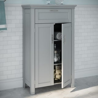 RiverRidge Somerset Collection Grey MDF 2-door Floor Cabinet