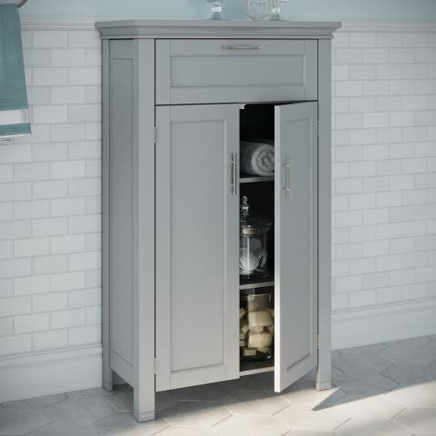 RiverRidge Somerset Collection Two-Door Floor Cabinet, Grey