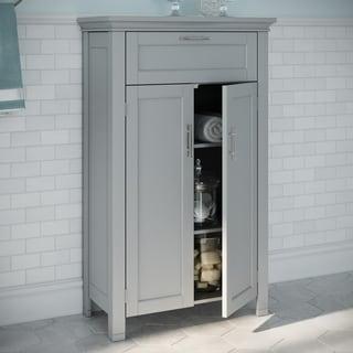 RiverRidge Somerset Collection Two-Door Floor Cabinet, Grey