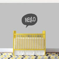 Hello Word Bubble' 24 x 22-inch Wall Decal