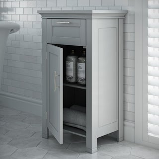 RiverRidge Home Somerset Collection Grey MDF Single-door Floor Cabinet