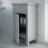 RiverRidge Home Somerset Collection Grey MDF Single-door Floor Cabinet