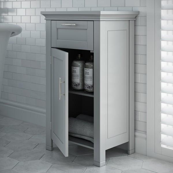 RiverRidge Somerset Collection Single Door Floor Cabinet, Gray