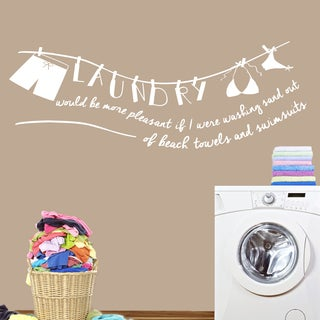 Laundry - Sand Out of Swimsuit' 72 x 26-inch Wall Decal