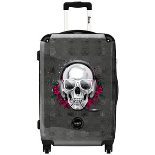iKase Skull Pixel 20-inch Fashion Hardside Carry-on Upright Suitcase
