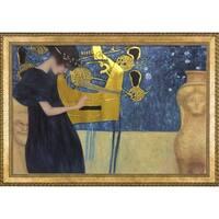 Gustav Klimt 'Musik' (Luxury Line) 1895 Hand Painted Framed Canvas Art