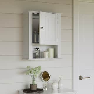 RiverRidge Ashland Collection with Single Door Wall Cabinet. Bathroom Cabinets   Storage For Less   Overstock com
