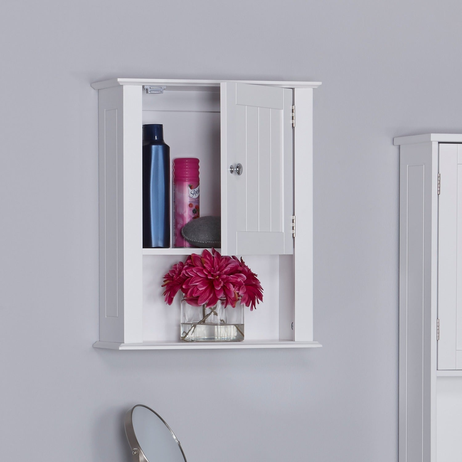 White, Wall Cabinet Bathroom Cabinets & Storage For Less   Overstock