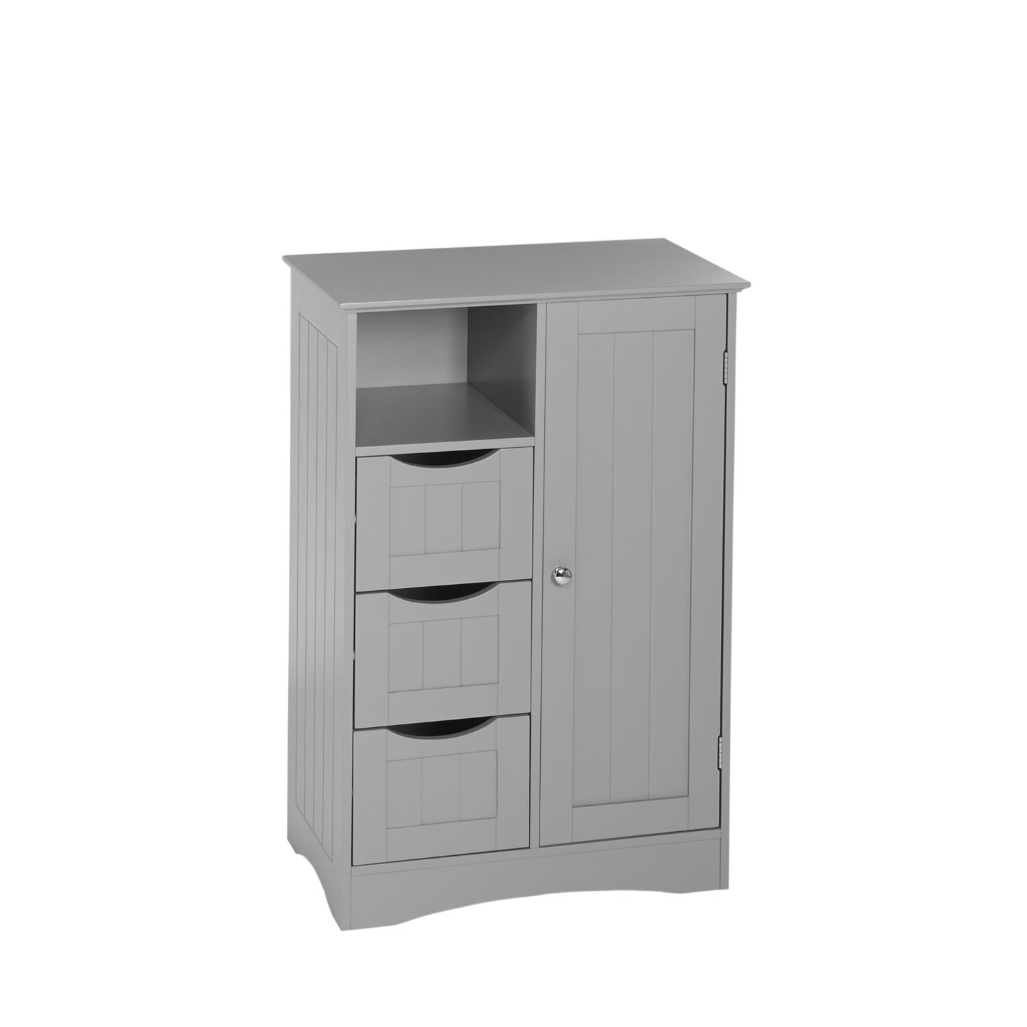 RiverRidge Home Products Ashland Collection Painted 1 Door 3 Drawer Floor  Cabinet