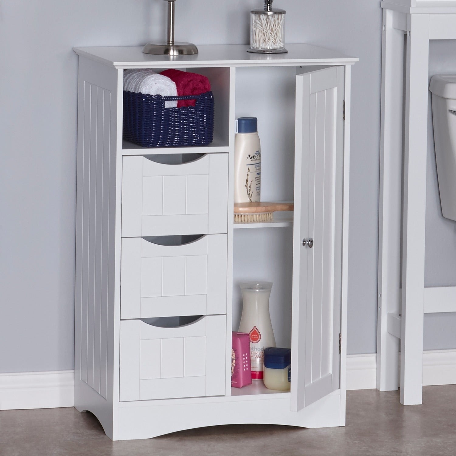 RiverRidge Home Somerset One-door Floor Cabinet - Free Shipping ...