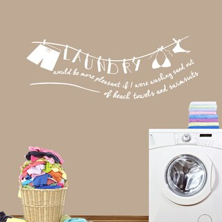 Laundry - Sand Out of Swimsuit' 60 x 22-inch Wall Decal