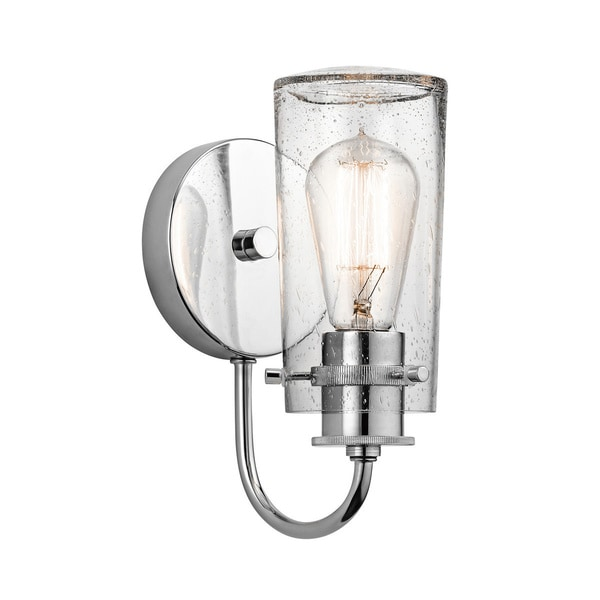 Kichler Lighting Braelyn Collection 1 Light Chrome Wall Sconce