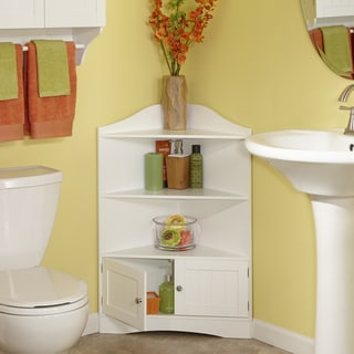 RiverRidge Ashland Collection White MDF Corner Cabinet