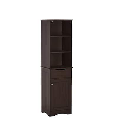 Brown Bathroom Cabinets Storage