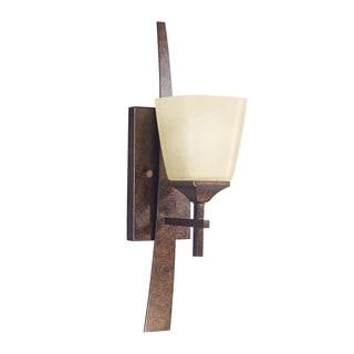 Kichler Lighting Souldern Collection 1-light Marbled Bronze Wall Sconce
