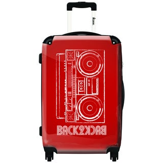 iKase Red My Music    Graphic 20-inch Hardside Carry-On Upright Suitcase