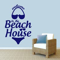 Sweetums 'Welcome to the Beach House' 40-inch x 60-inch Wall Decal