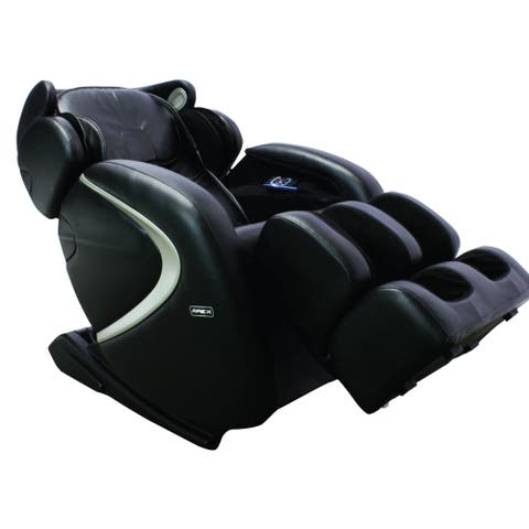 Apex Aurora L-track Space-saving Faux Leather Deluxe Massage Chair