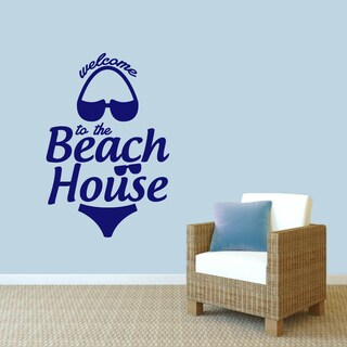 Sweetums 'Welcome to the Beach House' Wall Decal