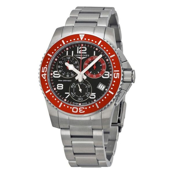 Longines Men's L36904596 'HydroConquest' Chronograph Stainless Steel Watch. Opens flyout.