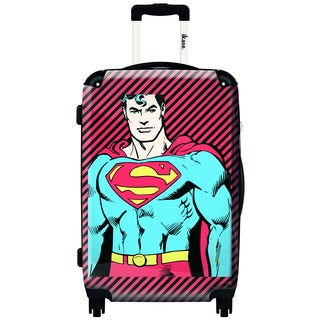 iKase Superman The One 20-inch Fashion Hardside Carry-on Upright Suitcase
