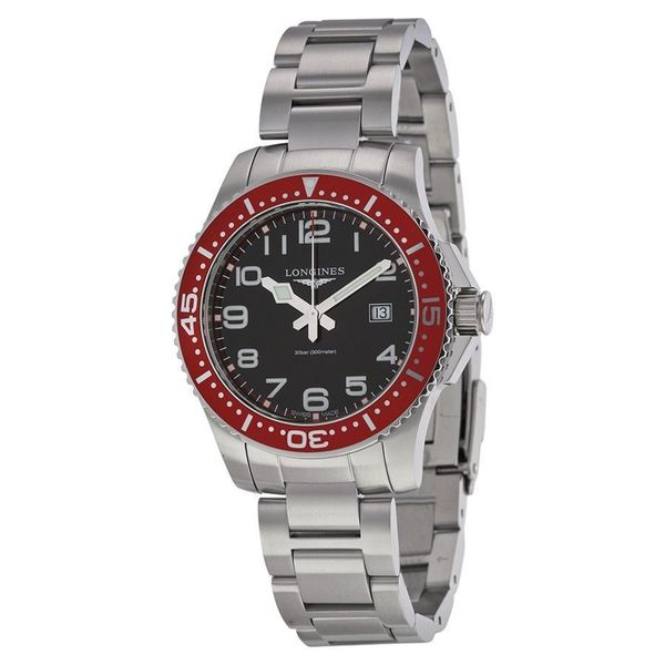 Longines Men's L36884596 'Hydroconquest' Stainless Steel Watch. Opens flyout.