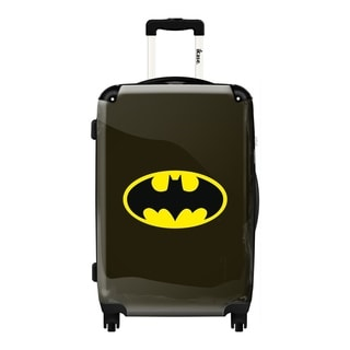 iKase Black Batman Logo  Hardside Carry-on 20-inch  Upright Suitcase