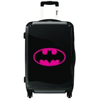 iKase Pink Hardside Batman Emblem 20-inch Fashion Carry-on Upright Suitcase