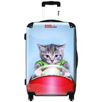 iKase Tabby is Racing  Hardside Carry-on 20-inch  Upright Suitcase